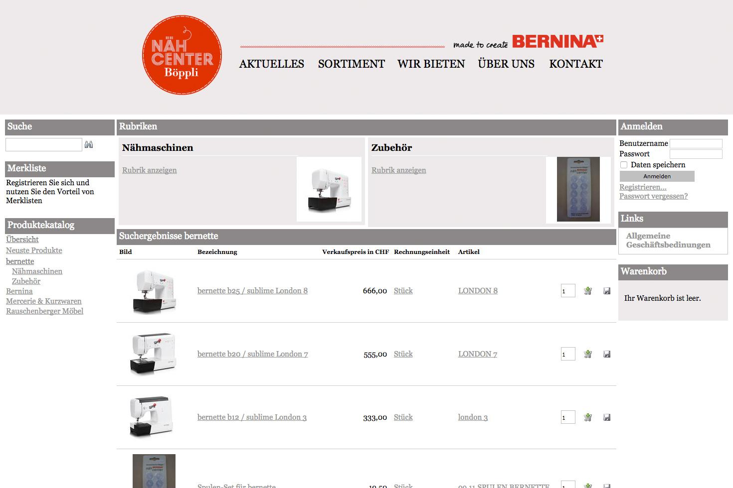 Bild 4 vom Böppli Nähcenter Webseite