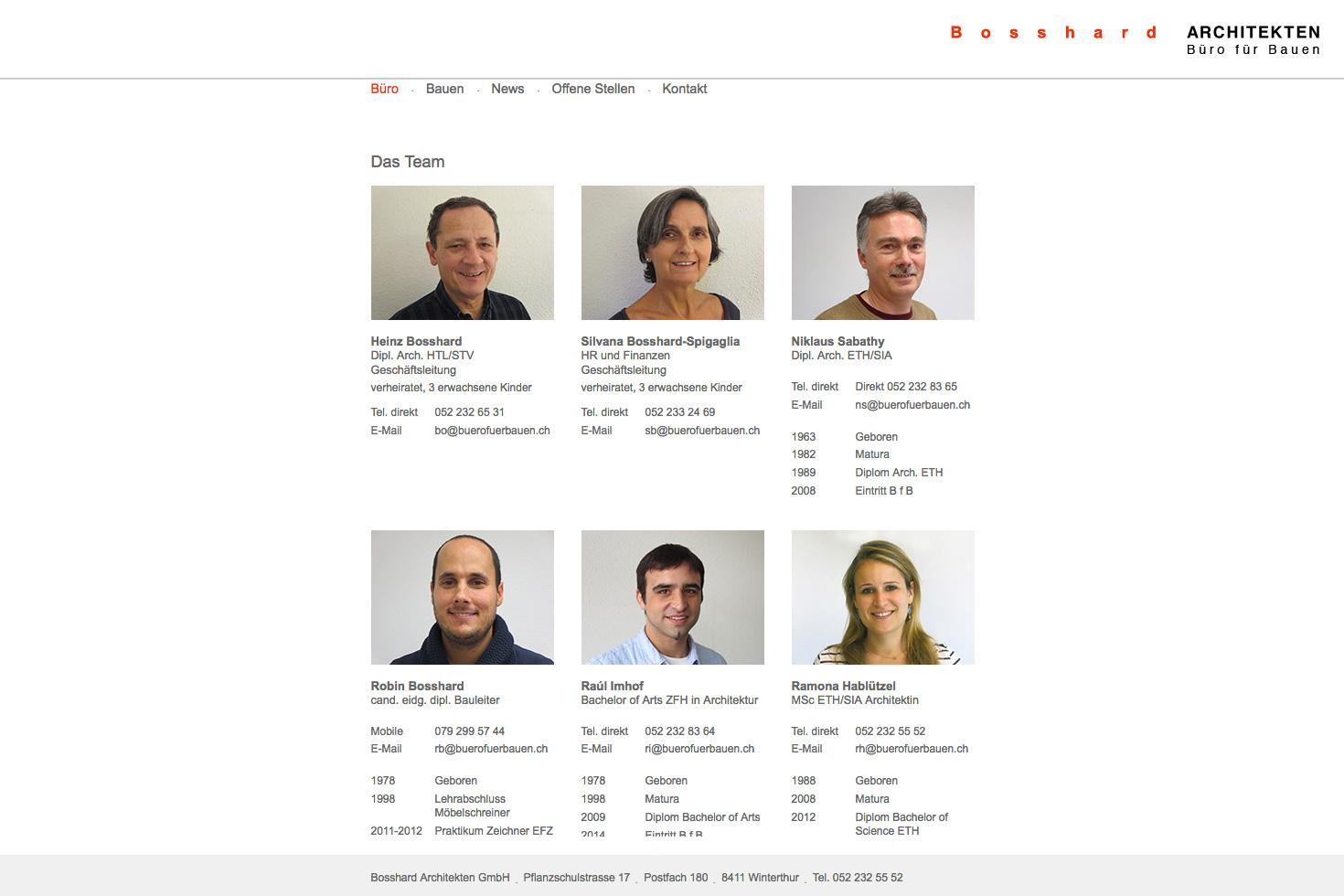 Bild 2 vom Büro für Bauen Webseite