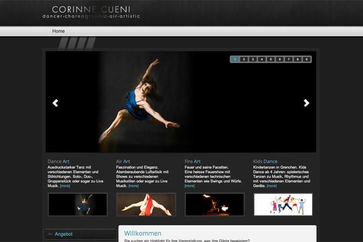 Bild 1 vom Corinne Cueni Webseite