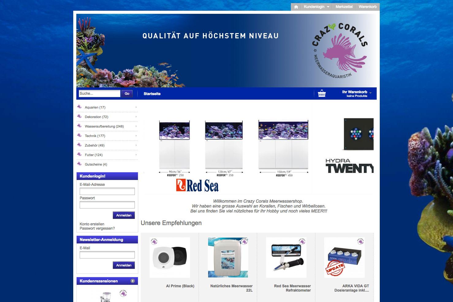 Bild 1 vom Crazy Corals Online-Shop