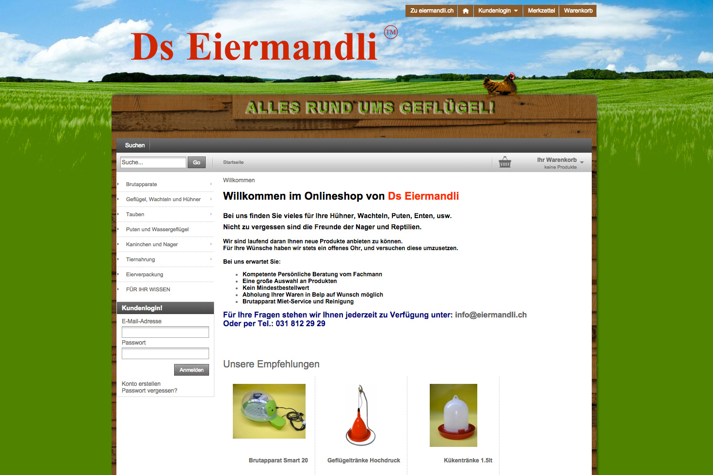 Bild 4 vom Ds Eiermandli Webseite / Shop