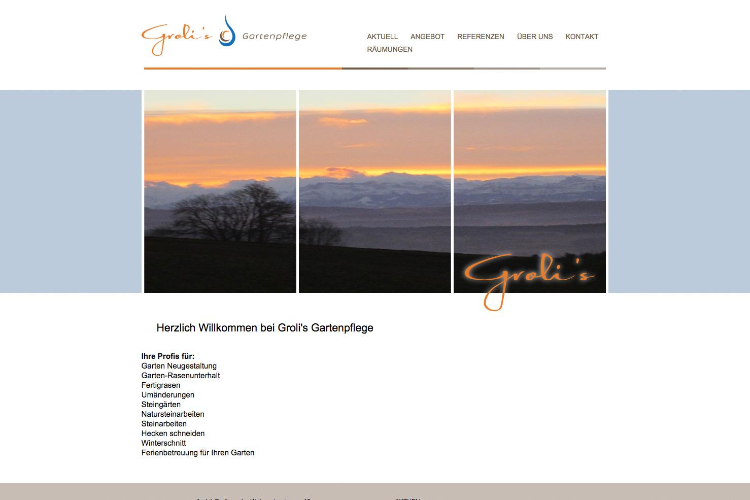 Bild 1 vom Groli's Gartenpflege Webseite