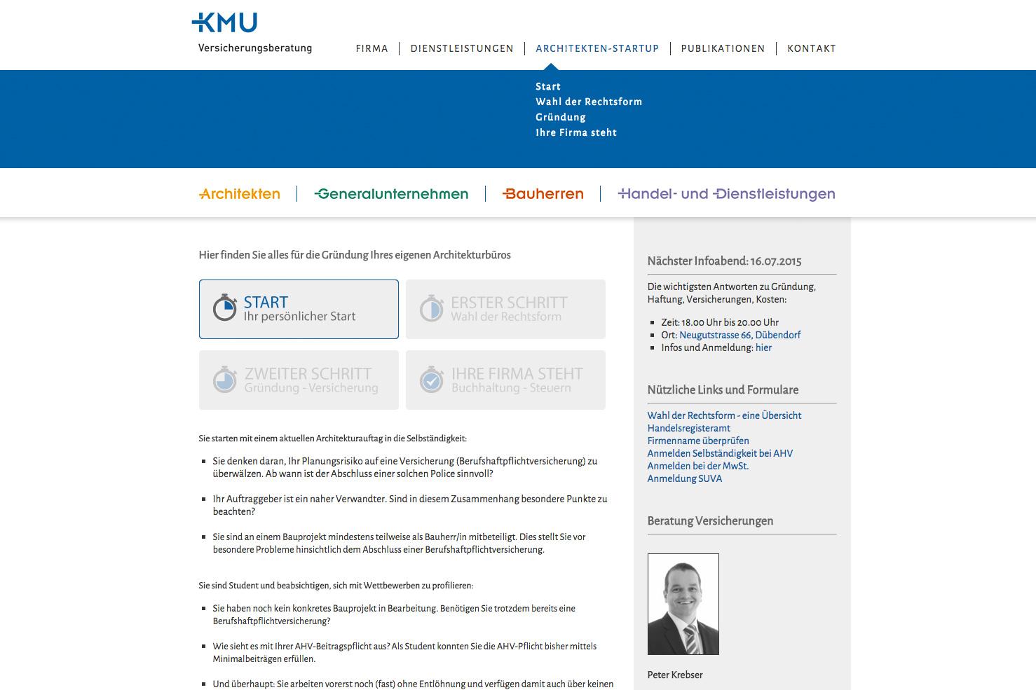 Bild 2 vom KMU Versicherungsberatung Webseite