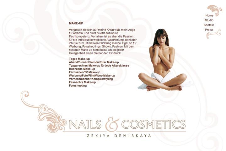Bild 3 vom Nails & Cosmetics Webseite
