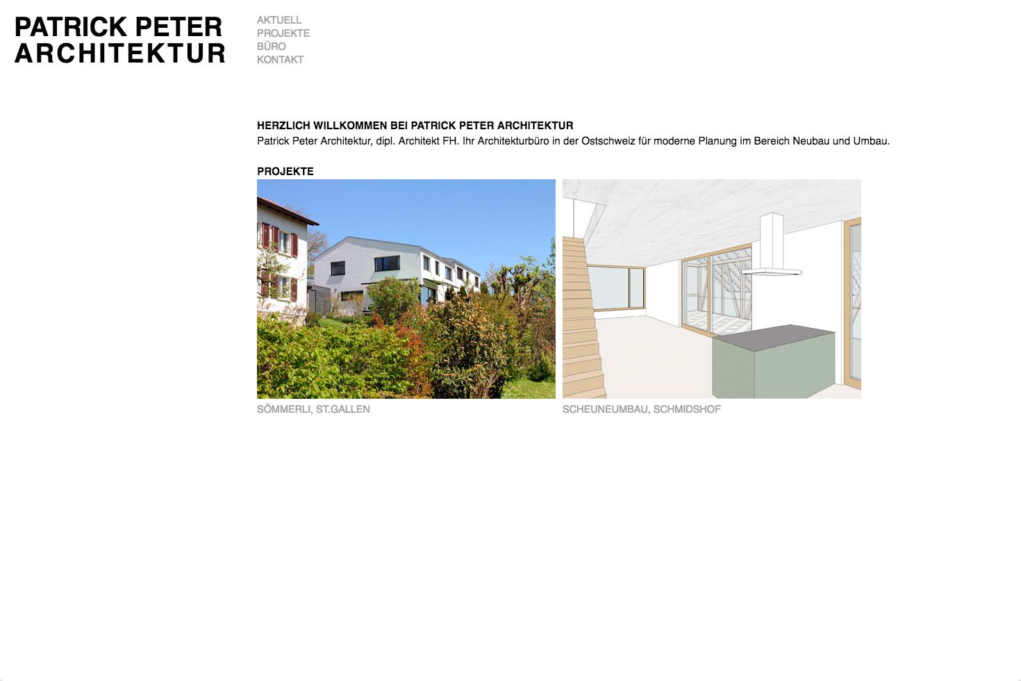 Bild 1 vom Patrickpeter-Architektur Webseite