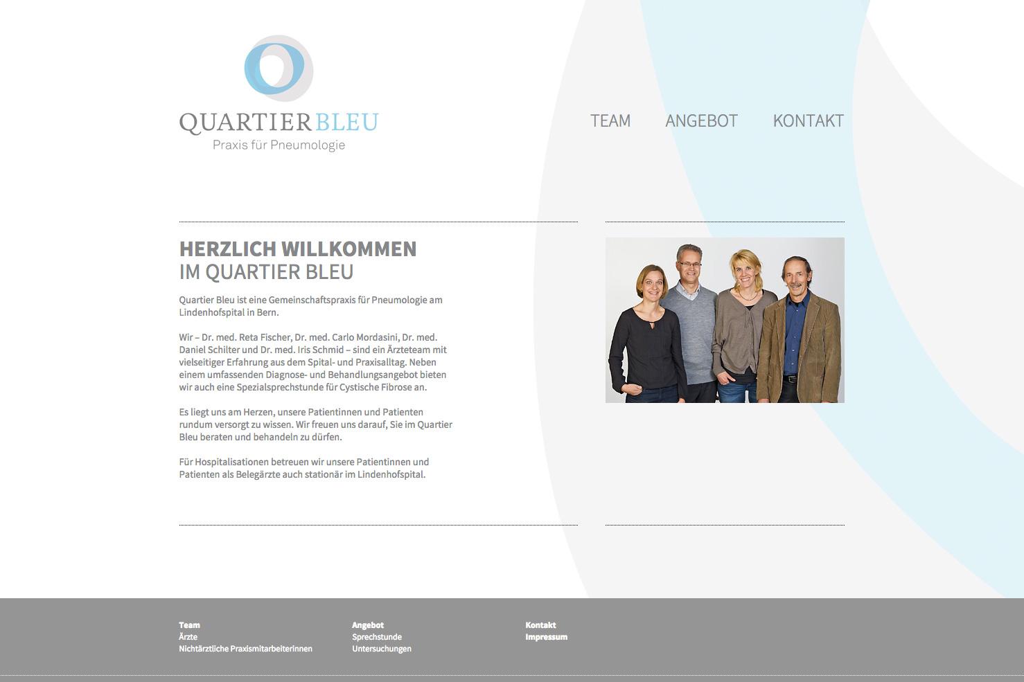 Bild 1 vom Quartier Bleu Webseite
