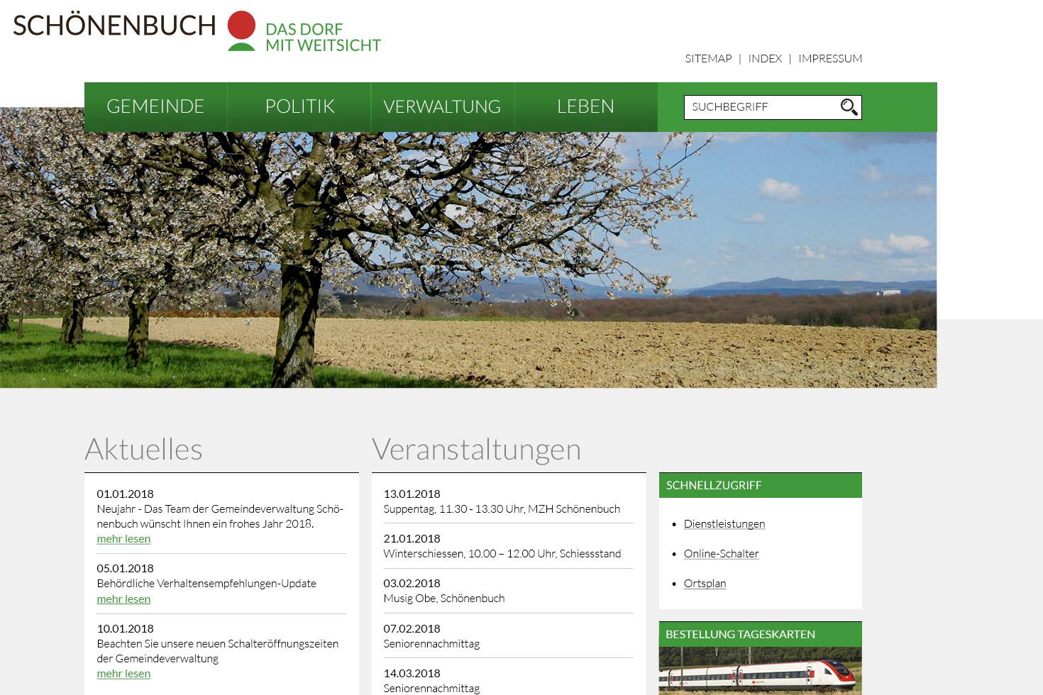 Bild 2 vom Screendesign für Webseiten