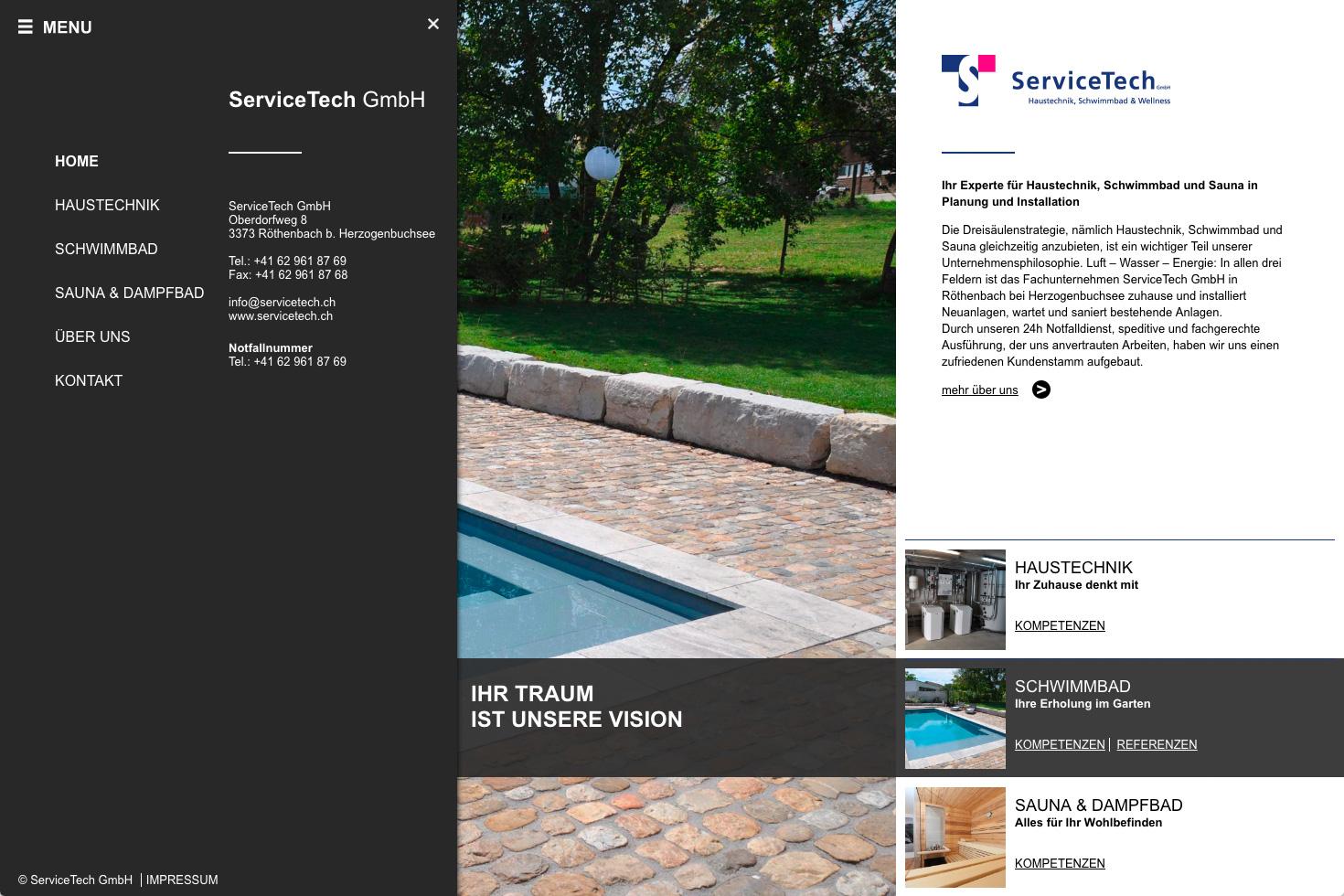 Bild 2 vom ServiceTech Webseite