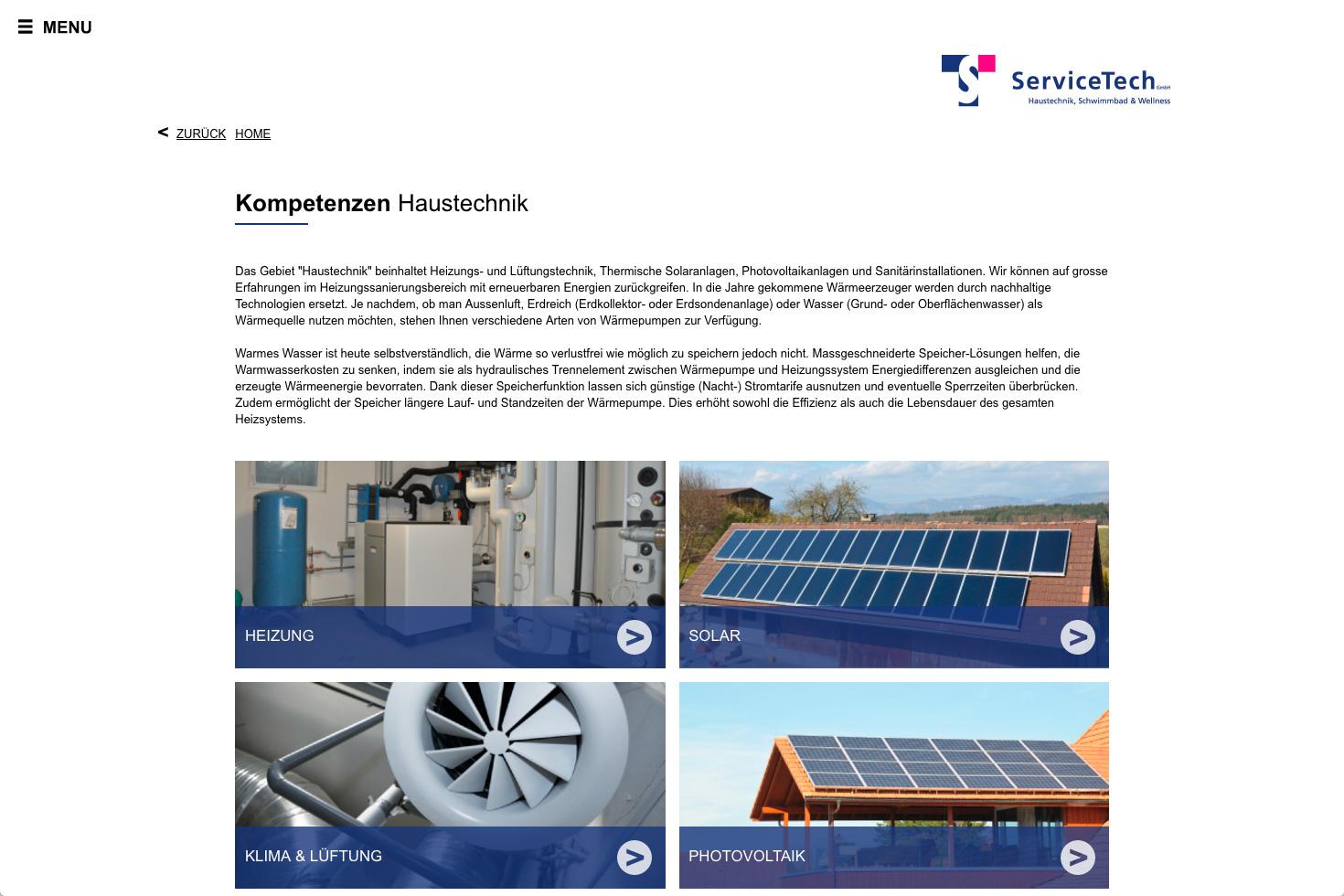Bild 3 vom ServiceTech Webseite