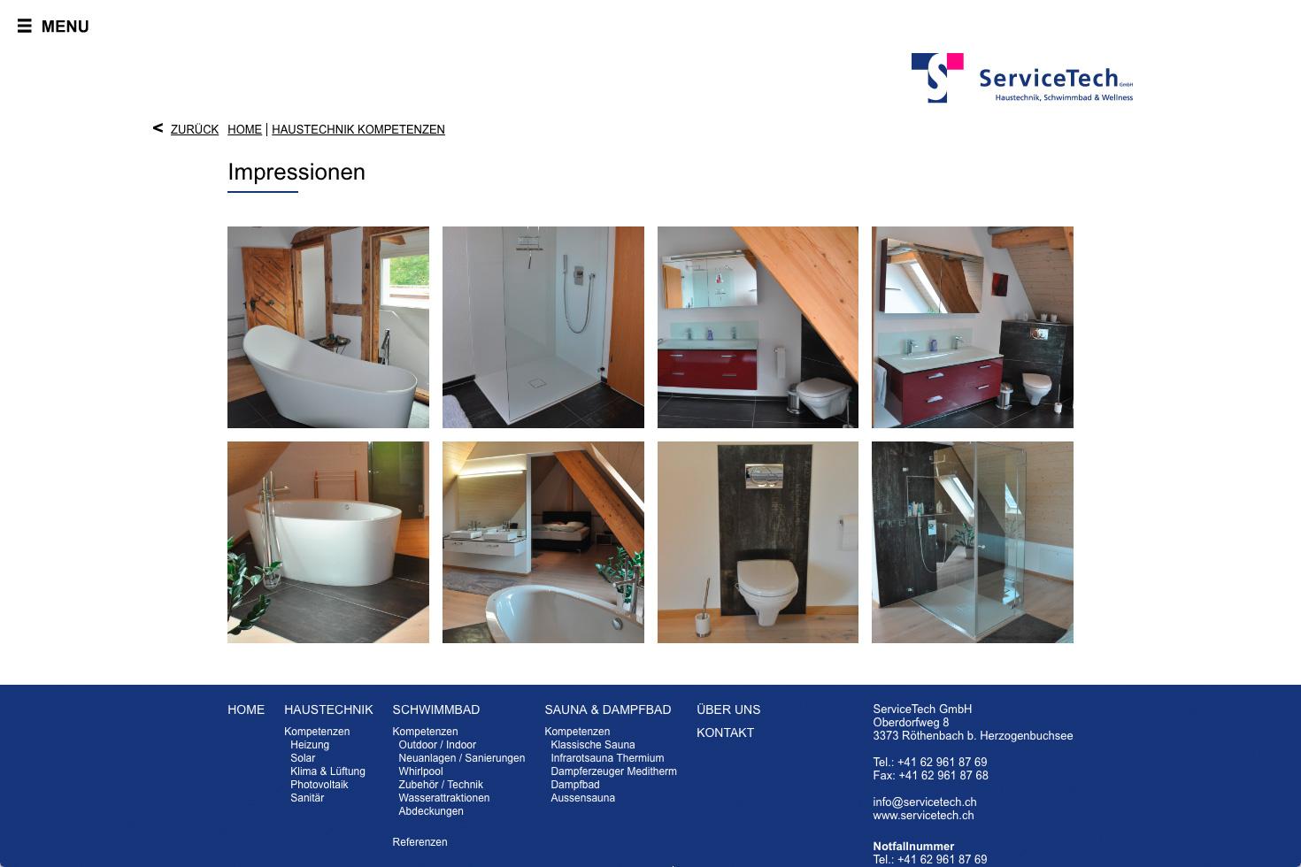 Bild 4 vom ServiceTech Webseite