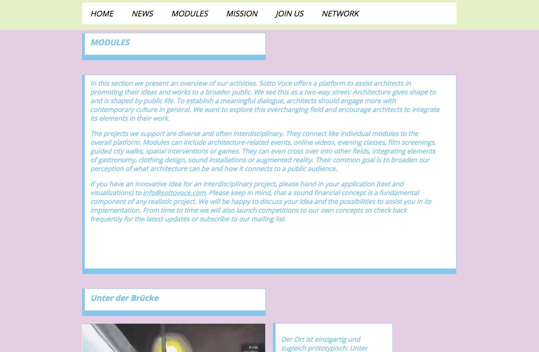 Bild 2 vom Sotto Voce Webseite